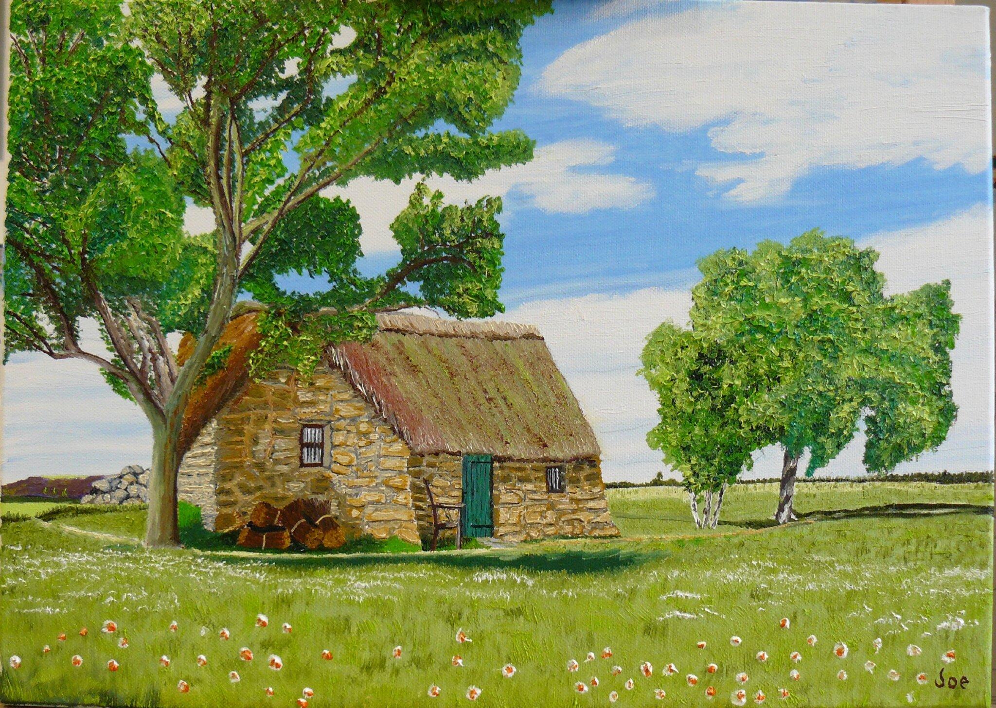 Une vielle maison a la campagne,