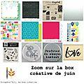 La <b>box</b> <b>créative</b> de juin 2016