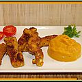 Nuggets de poulet au curry et sa puree de patates douces