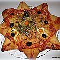 Pizza fleur ou étoile à la sauce