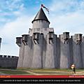 Reconstitution numérique: la forteresse de Château-Gaillard, telle qu'elle était en 1198