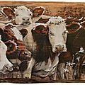 Peinture deco poya sur bois C Pollier artiste peintre Haute-Savoie