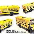 Bus school and ice cream van