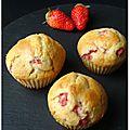 Muffins gariguettes yuzu {extra moelleux]