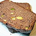 Pain aux bananes et aux pistaches sans gluten