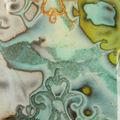 Quand la fimo prend l'aspect de l'émail... détail pendentif, vue 1 (hidden maggic et résine)