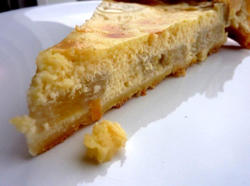tarte choco blanc bananes