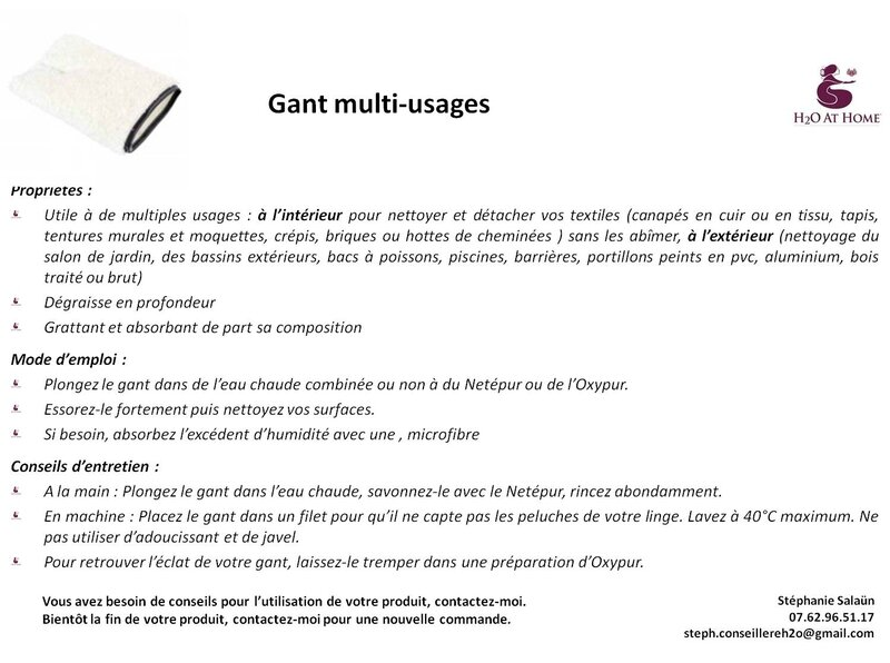 le gant multi-usages