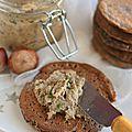 Beurre de champignons (vegan) & blinis à la noisette