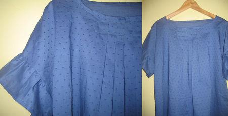 plumetis coton bleu
