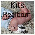 KITS REALBORN 3D - PRINT (répliques de bébés réels)