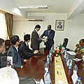 National Institute For Vocational Trainers: Government, <b>Korea</b> Lay Foundation Stone /Institut National Formateurs Professionnels