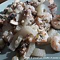 <b>Gratin</b> de fenouil aux crevettes et sarrasin