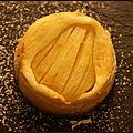 Gâteaux aux poires format individuel