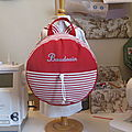 Rouge IM5244 assorti rayé rouge et blanc