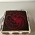 Entremet Targaryen Game of thrones