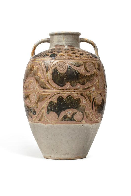 Grande jarre en grès, Marque sous la base 'Fabrique dans le style de 'Thanh Hoa', Vietnam, XXe siècle