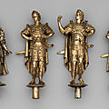 A set of 12 European silver-gilt standing cups reunited for the first time in more than 150 years