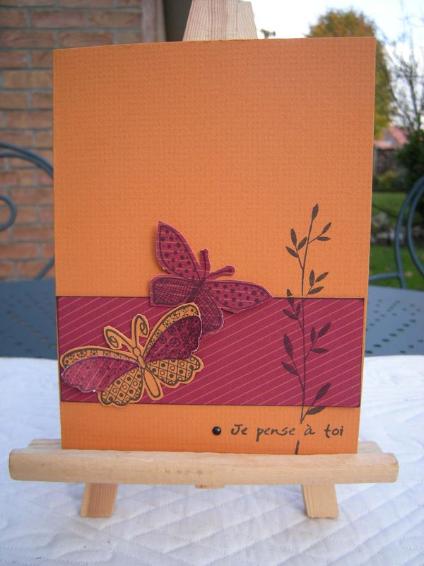 Set cartes orange-bordeau (6)
