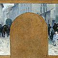 Baudouin, Paul Albert, transport des blessés et queue devant un magasin