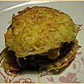 Burger de pommes de terre