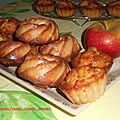 Madeleines pommes cannelle amandes