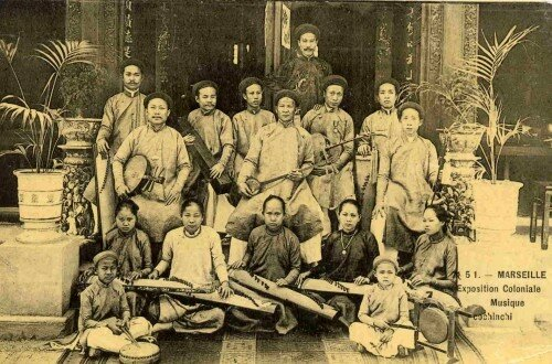 15. Exposition Coloniale Marseille 1906 Orchestre conchinchinois