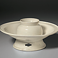A northern white-ware cup stand, northern song dynasty (ad 960-1127)