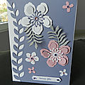 Carte anniversaire fleurie