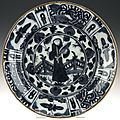 Plate of semiporcelain in <b>Chinese</b> <b>style</b>: Persia, c. 1600