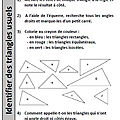 <b>Géométrie</b> - identifier et tracer des triangles - renforcement