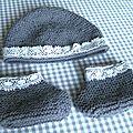 Bonnet et chaussons bb vanessa