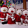 <b>Christmas</b> Aventures Beau, Belle, Boo and Bess - Knitting by Post