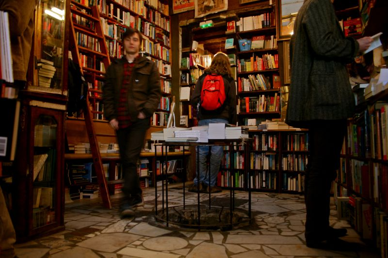 Pittoresque librairie Shakespeare and co.