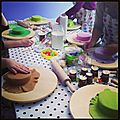 *atelier du 27 avril 2013* : marguerites, roses et coccinelle...