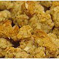 Crumble rhubarbe, gingembre, orange