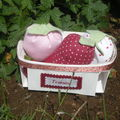 Panier de fraises Tilda, offert par Sandra