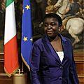 Madame kyenge cécile, une femme noire d'origine congolaise ministre dans le gouvernement italien d'enrico letta