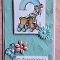 Des cartes pour des anniversaires
