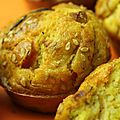 Muffins carottes, poireaux, echalotes et graines de sesame