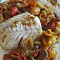 Curry de cabillaud aux poivrons