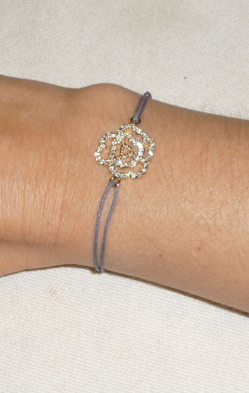 Plaqué or et zirconium - Bracelet