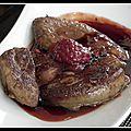 Foie gras poêlé gastrique de framboises