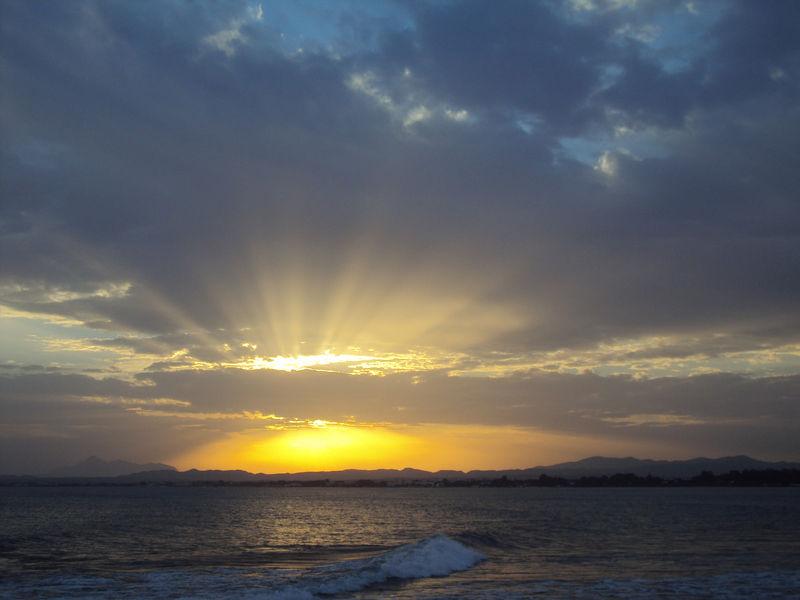 Le coucher de soleil du mercredi 8 septembre 2010.
