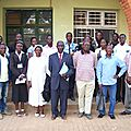 Après une conférence avec des Etudiants de Lubumbahsi, au Collège Imara