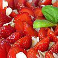 Tarte aux fraises amandes et basilic