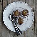 Mini muffins au chocolat et confiture aux poires