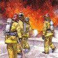 Pompiers aquarelle