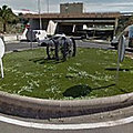Rond-point à Aguimes (Espagne)