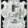 École allemande vers 1800, Vanité au crâne